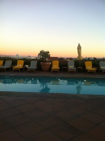 Canary, a Kimpton Hotel:                   roof top pool with panoramic views of city, mountains and ocean