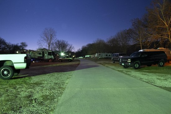 By the River RV Park: The RV park after dark on a clear Texas night