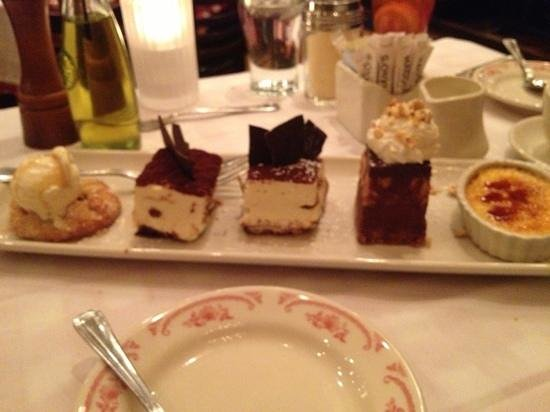 Maggiano's Little Italy: 5 tastes if dessert all great!