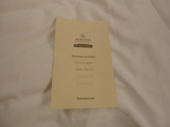 IBEROSTAR Grand Hotel Budapest:                   Bonne nuit