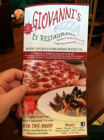 ‪‪Giovanni's Pizza III‬: huge menu‬