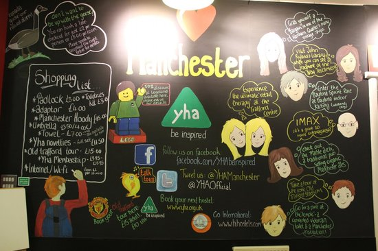 YHA Manchester:                   Reception