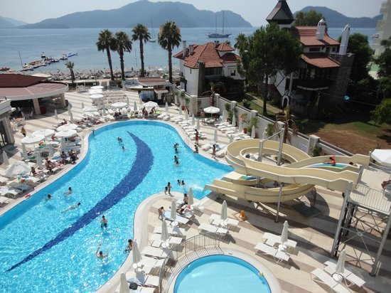 View from our room in 3. floor - Picture of Golden Rock Beach Hotel, Marmaris - TripAdvisor