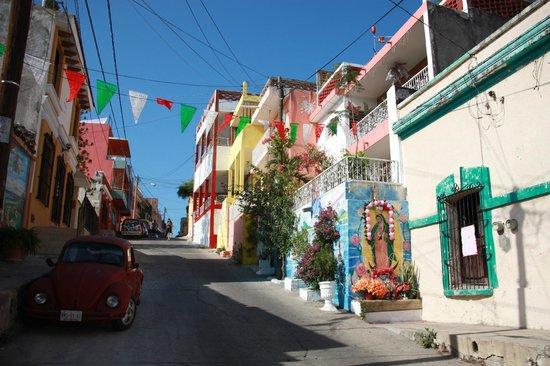 Old Mazatlan Inn :                   Street where OMI is located