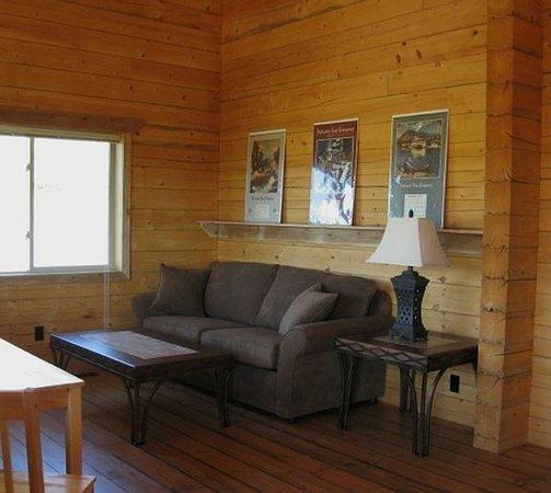 Waterton River Suites: Living area in each suite