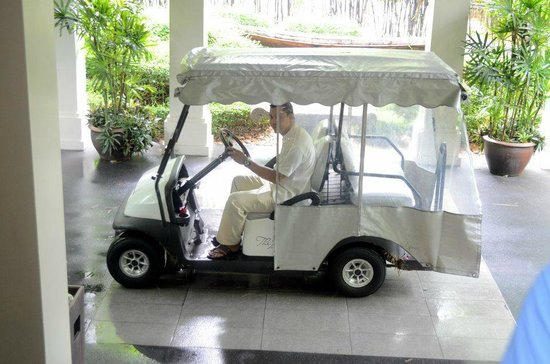 The Pavilions Phuket:                   They drive you around everywhere on the resort