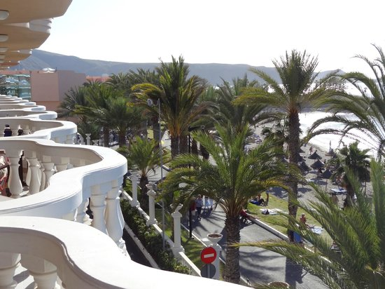 Cleopatra Palace Hotel:                                     Balcony view to the left.