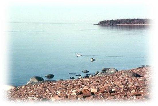 The Outpost Motel: Beach on Lake Superior