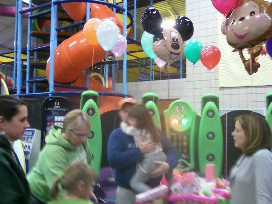 Playworks:                   birthday party with balloons