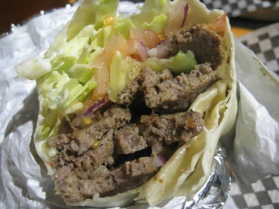 Splitz Grill:                   Donier Wrap: Huge gyro special only $8.95 w/fries