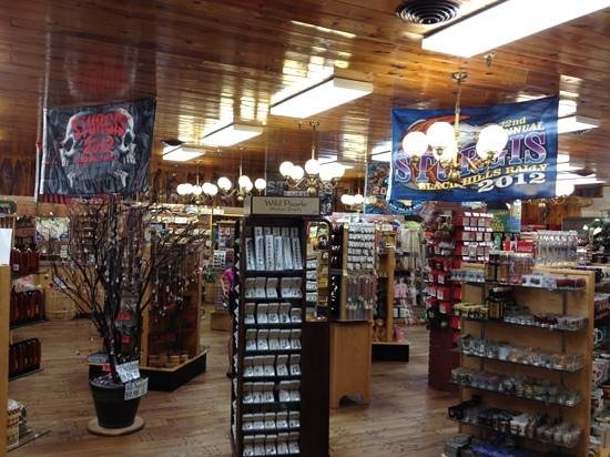 Wall Drug Store Cafe:                   emporium department during Sturgis rally