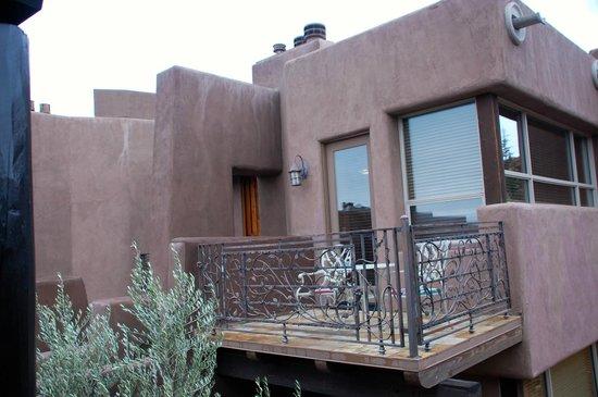 Adobe Grand Villas:                   Private balcony of a neighboring suite