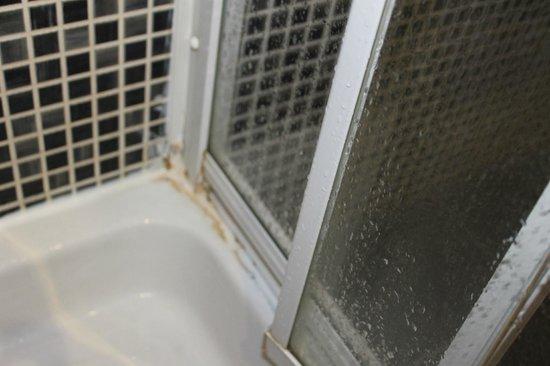 EA Hotel Crystal Palace:                   Paredes de la ducha muy sucias y puerta rota