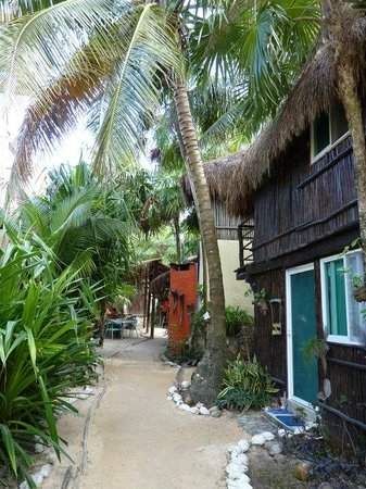 My Tulum Cabanas:                   our room - bottom right