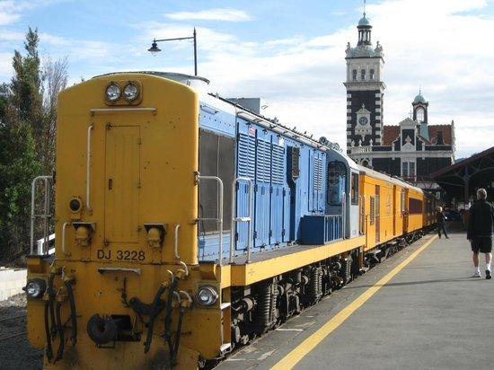 Taieri Gorge Railway:                                     The Train at Dunedin Railway Station