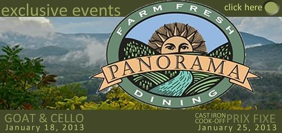 Panorama at the Peak: Cast Iron Cook-off banner by Annie Seay