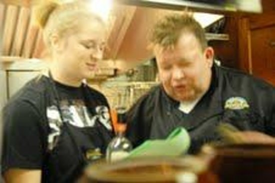 Panorama at the Peak: Chef Scott and Culinaray Student Leslie Baxter Jan 2013