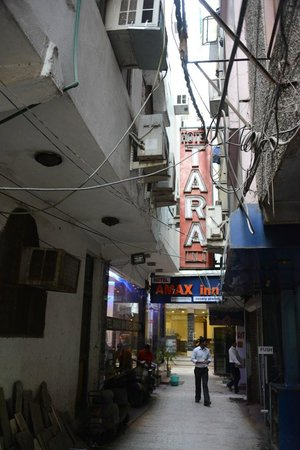 Small street leading from Arakashan Rd to Hotel Amax Inn