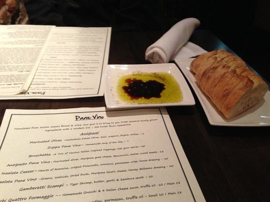 Pane Vino Trattoria & Wine Bar:                   Menu