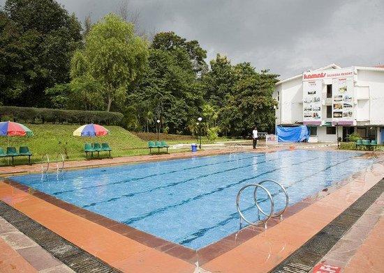 Green garden area picture of lotus resort silvassa - Hotels in silvassa with swimming pool ...