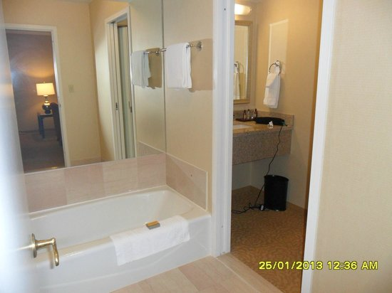 Chicago Marriott Suites O'Hare :                   Separate sink basin area