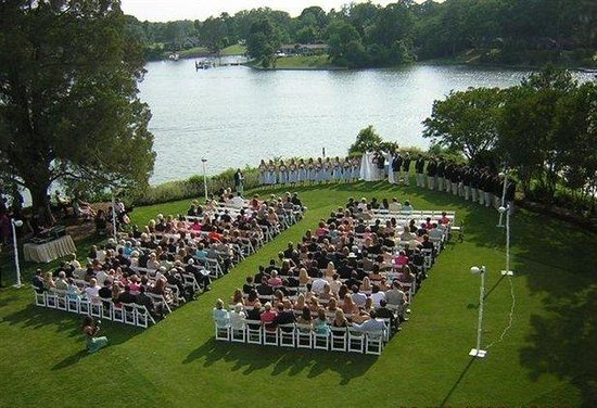 The Tides Inn: Tides Inn Wedding Ceremony On Croquet Lawn