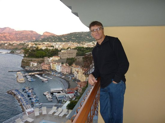 Hotel Belair :                   Sorrento and Harbor View from the Room Balcony.