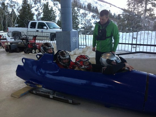 Montage Deer Valley:                                     Olympic Park Bobsled ride