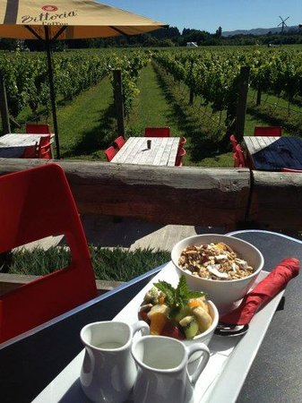 The Vineyard Cafe at Margrain Vineyard:                   perfect location for breakfast