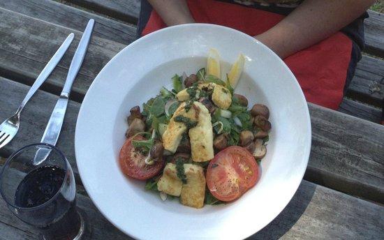 The Vineyard Cafe at Margrain Vineyard:                   good vegetarian options