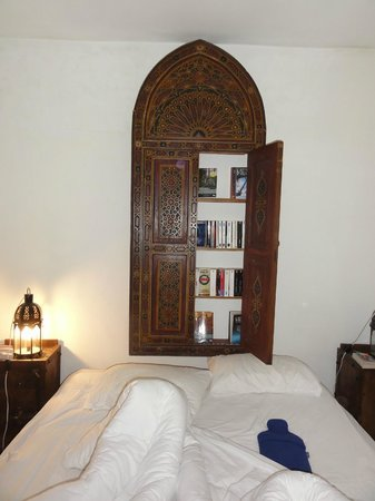 Dar KamalChaoui:                   A beautiful book closet in our room