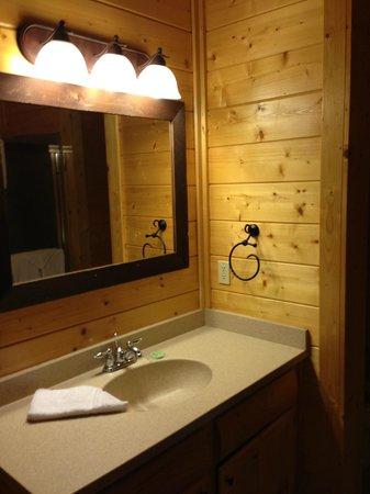 Gatlinburg Falls Resort: Nice clean bathroom sink area in the master bath.