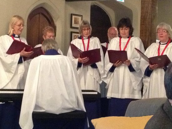 Ellenborough Park:                                     the choir who sang xmas carols
