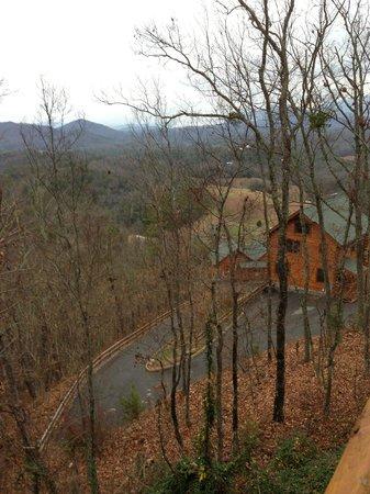 Gatlinburg Falls Resort: View from loft area