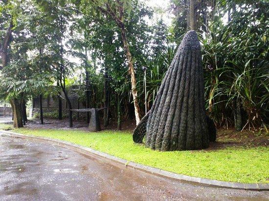 NuArt Sculpture Park :                   A whale sculpture.