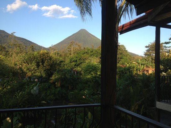 Casa Luna Hotel & Spa :                                     View from Room A4 of the volcano :)