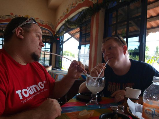 Sonora Grill:                   Enjoying a drink with a friend