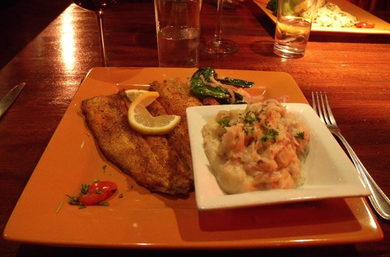 Table Ten:                   Delicious trout and garlic mashed pototoes