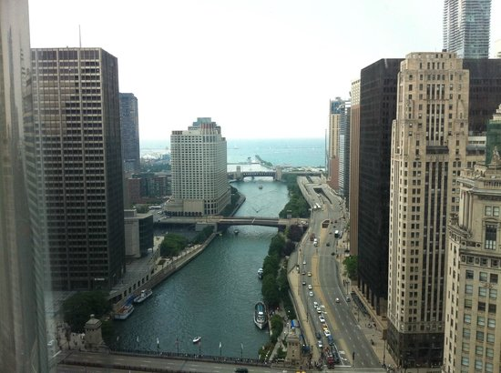 Trump International Hotel & Tower Chicago:                                     view from suite - day