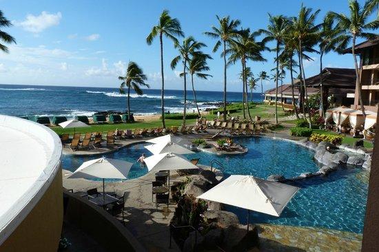 Sheraton Kauai Resort :                   Blick vom Balkon