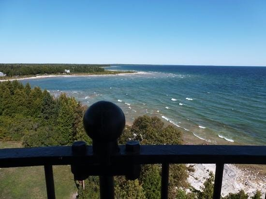 Cana Island Lighthouse: view from the top