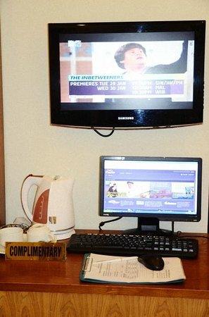 Hanoi Charming Hotel:                   อินเตอร์เนตและทีวี