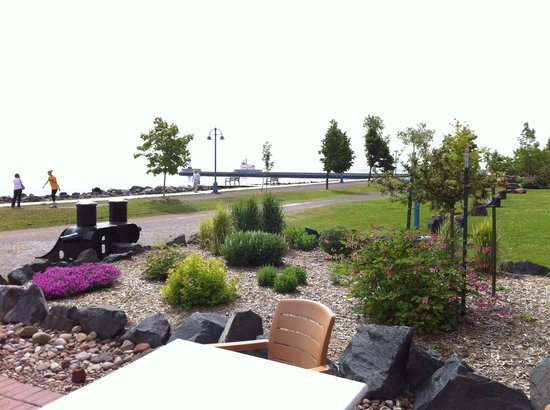 The Inn On Lake Superior:                   back patio / lake view / smores!