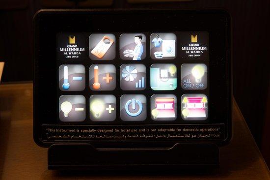 Grand Millennium Al Wahda:                                     Control panel in room