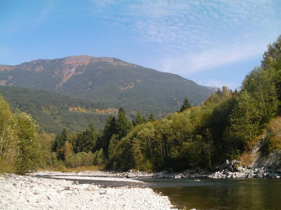 Riverbend Guest House B&B: Chilliwack River fishing area