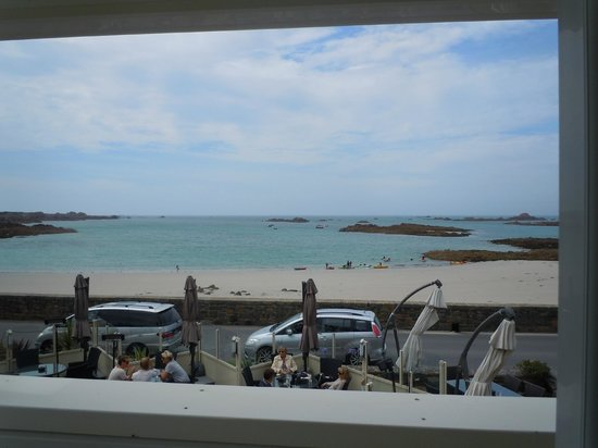 Cobo Bay Hotel: view from twin room