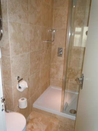 Cobo Bay Hotel: shower