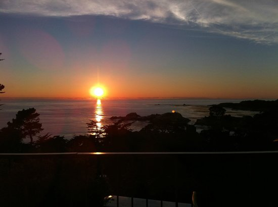 "Hyatt Carmel Highlands:                   gorgeous sunset from our ""upgraded view"""
