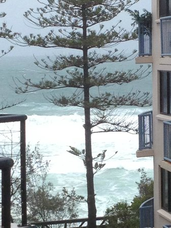 The Beach Retreat Coolum: View from our balcony between our unit and the unit next door