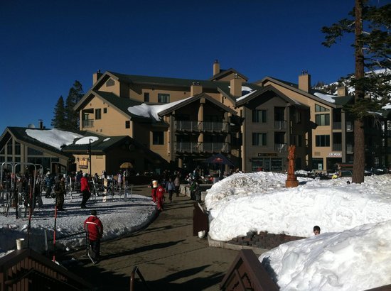 Mountain Club at Kirkwood Mountain Resort:                   The building from afar.